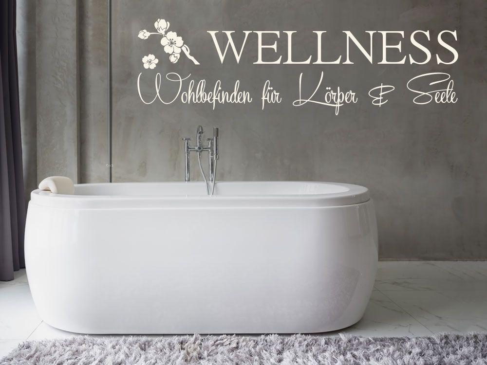 Wandtattoo Wellness - Wohlbefinden fWandtattoo Wellness - Wandtattoos Fürs Badezimmer