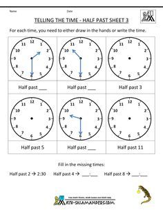 1 st grade time | Projects to try | Pinterest | Math, Worksheets ...