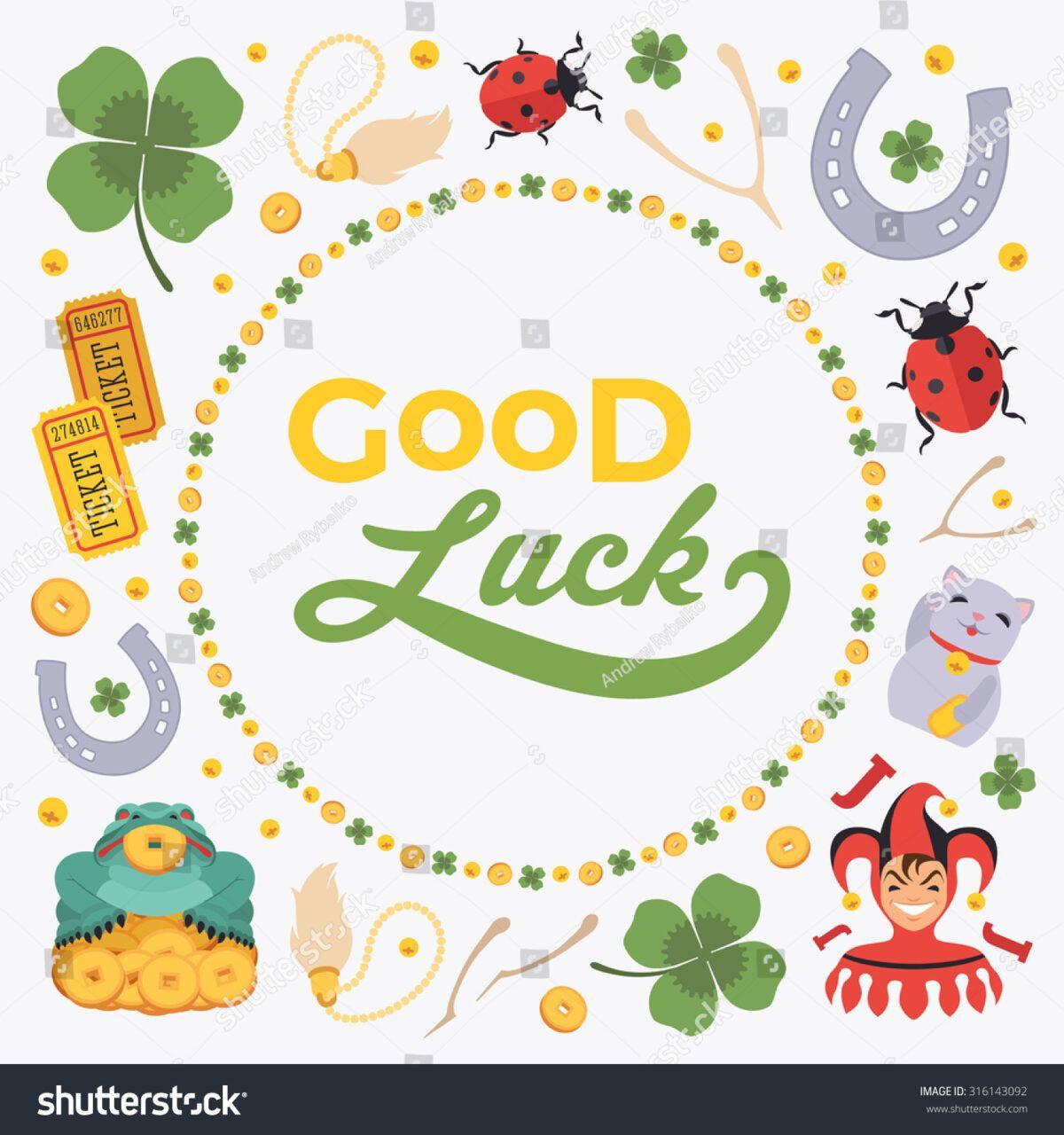 Stokovaya Vektornaya Grafika Vector Decorating Design Made With Regard To Good Luck Card Template Good Luck Cards Card Template Christmas Card Templates Free