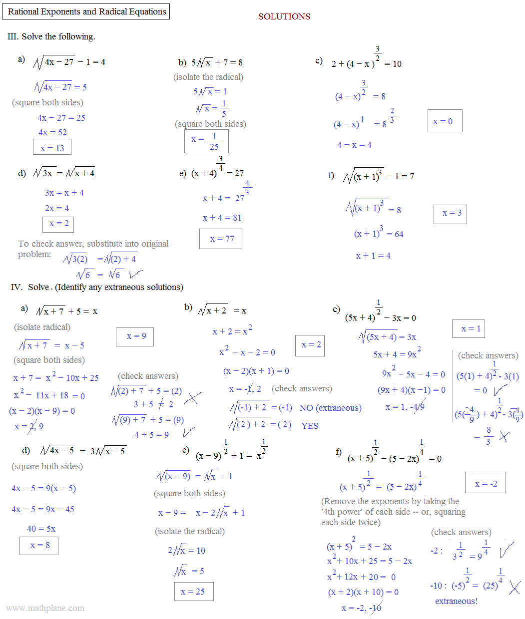 Algebra Exponent Review Worksheet Worksheets For Kids