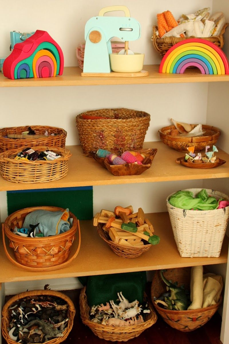 this brown wren: toys open-ended toys organized in baskets ...