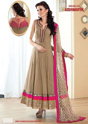 Enhance your style statement wearing this designer anarkali suit set out from our latest collections salwar kameez  and at just Rs 7400.00 (INR) - Get designer anarkali  salwar kameez  suit today at: http://www.aishwaryadesignstudio.com/ready%20to%20ship/15323-fancy-beige-color-long-anarkali-suit.aspx