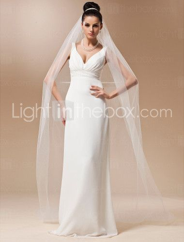 One-tier Tulle Chapel Veil (More Colors) - US$ 17.59