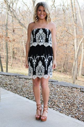 Celebration Dress - Black >> www.anchorabella.com New Arrivals Daily! Fast, Free Shipping!