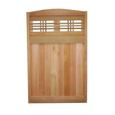 Signature Development Inc. Horizontal Lattice Deluxe Arched Architectural  Cedar Utility Panel   This Premium Cedar Utility Fence Panel Is Paintable  And ...