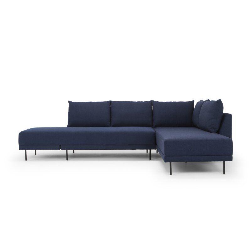Aldren 116 Sleeper Sectional Allmodern In 2020 Sectional Sleeper Sofa Modular Sectional Sleeper Sectional