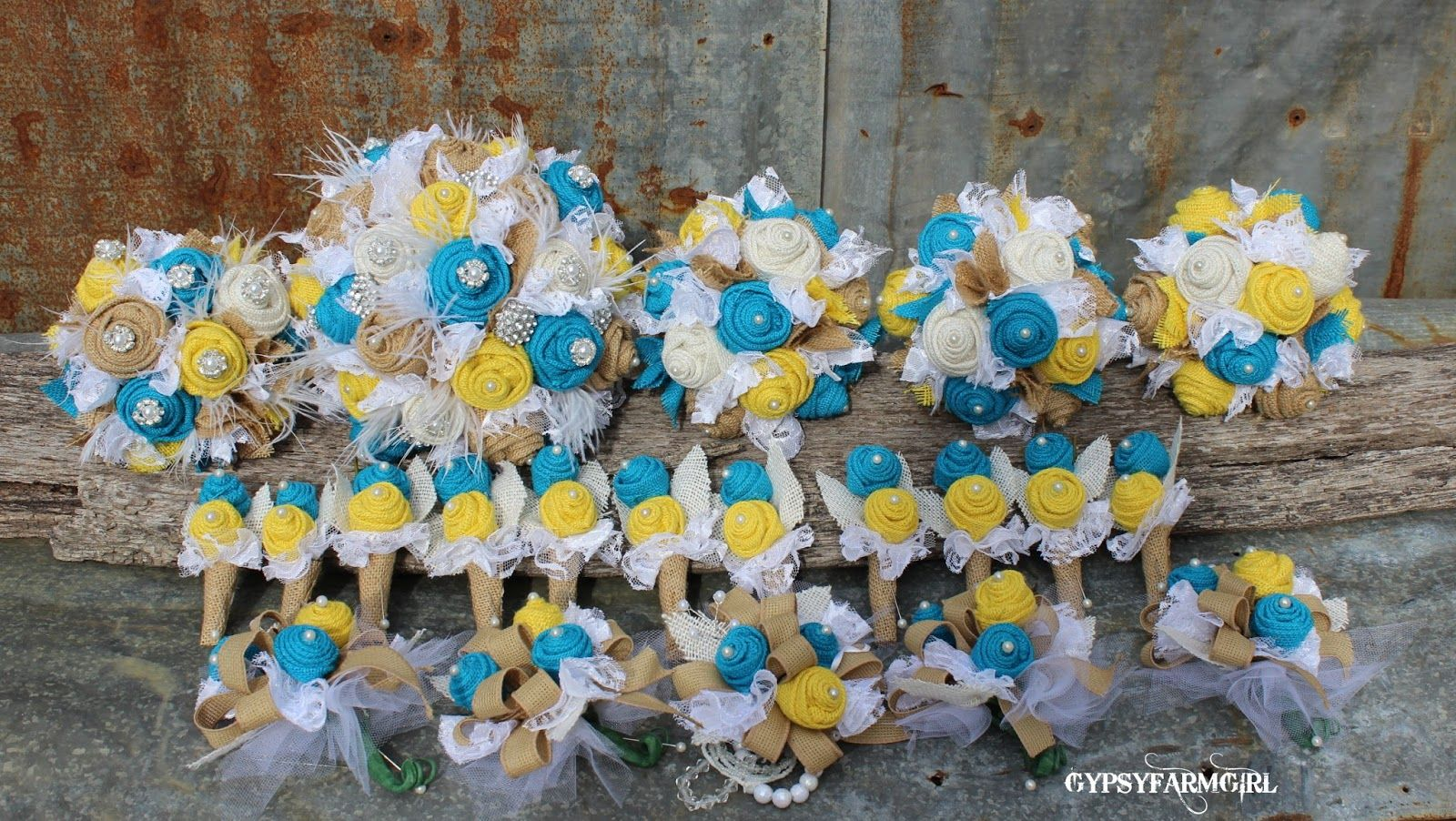 Turquoise And Yellow Wedding Ideas: Turquoise And Yellow Burlap And Lace Weddings
