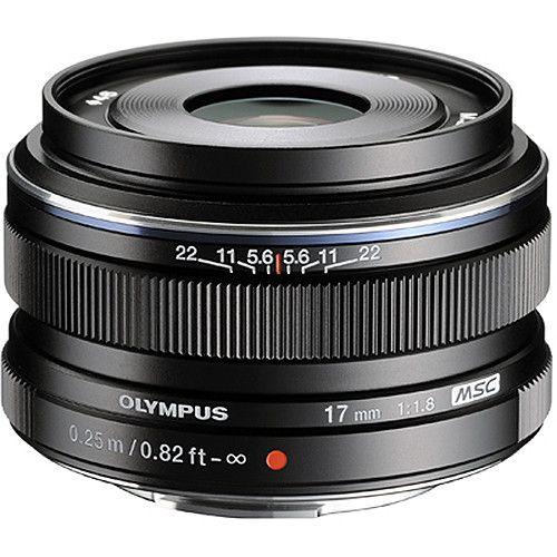 Olympus M Zuiko Digital 17mm F 1 8 Lens Black V311050bu000 B H Olympus Camera Digital Camera Olympus