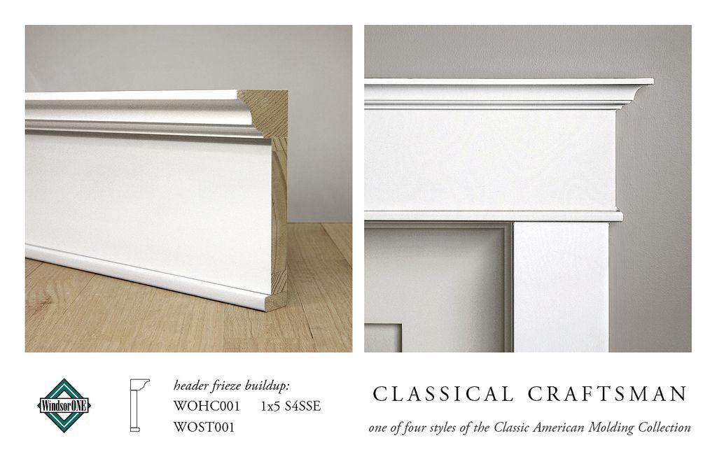 Classical Craftsman Header Molding Buildup Moldings And Trim Craftsman Trim House Trim