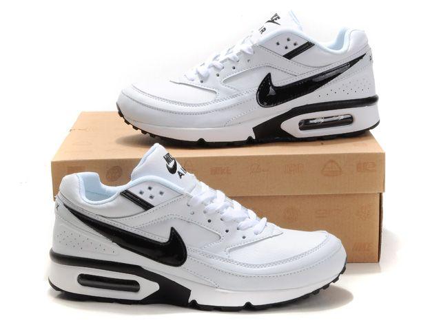 Hommes Nike Air Max BW Chaussures Mode Blanc Noir