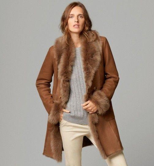 Abrigo piel massimo dutti