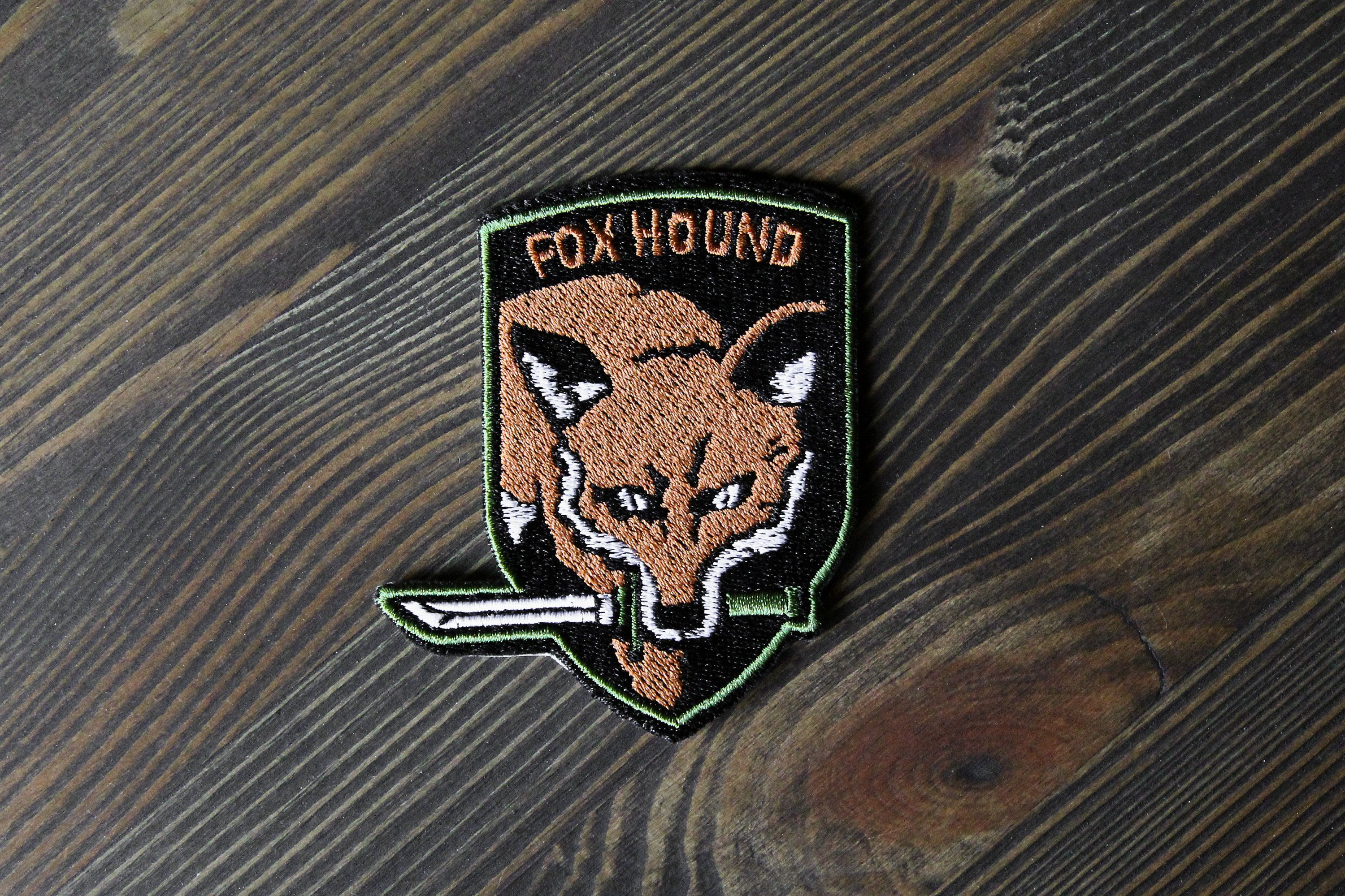 Fox Hound Patch Gift For The Metal Gear Solid Video Game Etsy Metal Gear Metal Gear Solid The Fox And The Hound