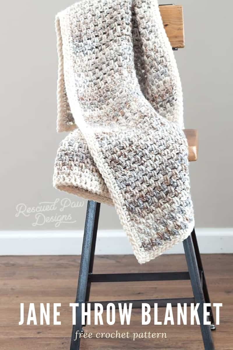 Jane Throw Blanket Pattern - Easy Crochet Blanket | Cobija y Bebe