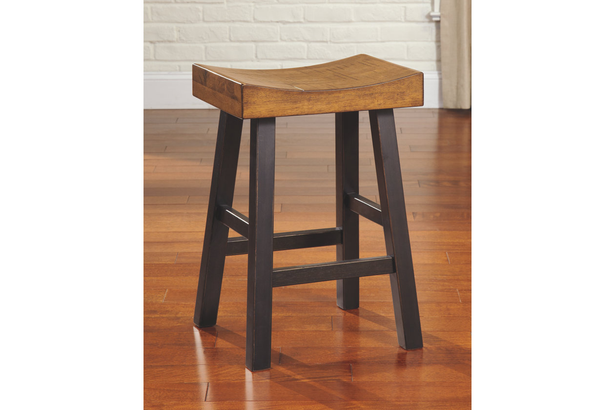 Glosco Counter Height Bar Stool Set Of 2 Two Tone Bar Stools