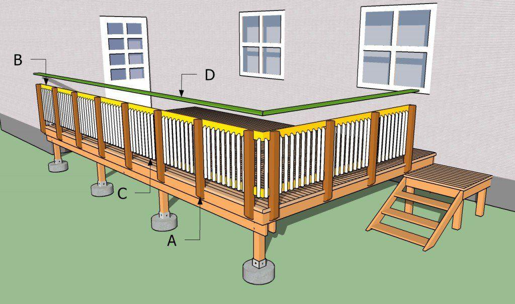 Building Deck Railings Building Deck Railing Building A Deck Deck Railings