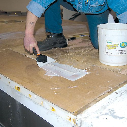 Fiddlin On The Roof Motorhome Rubber Roof Replacement Roof Leak Repair Asphalt Roof Shingles Roofing Options