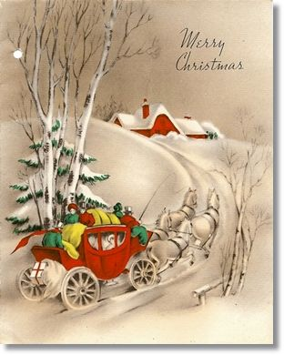 free christmas cards to print | Free Printable Vintage Christmas ...