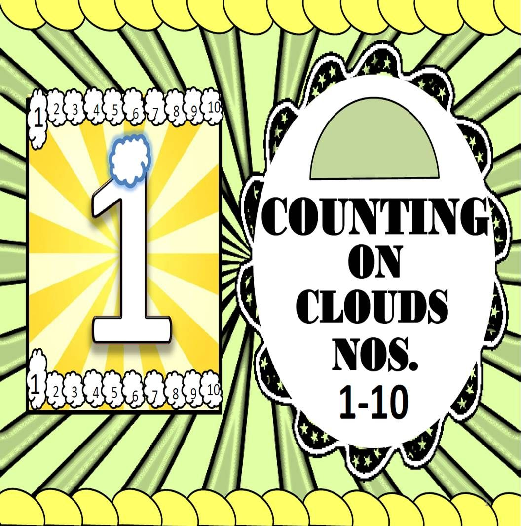 Extrabonusdistance Learning Counting On Clouds Cards 1 10