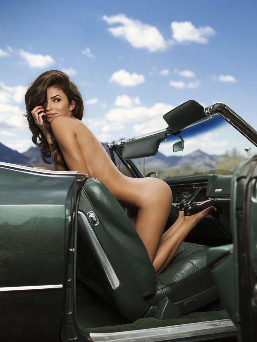 Car hot sexy woman