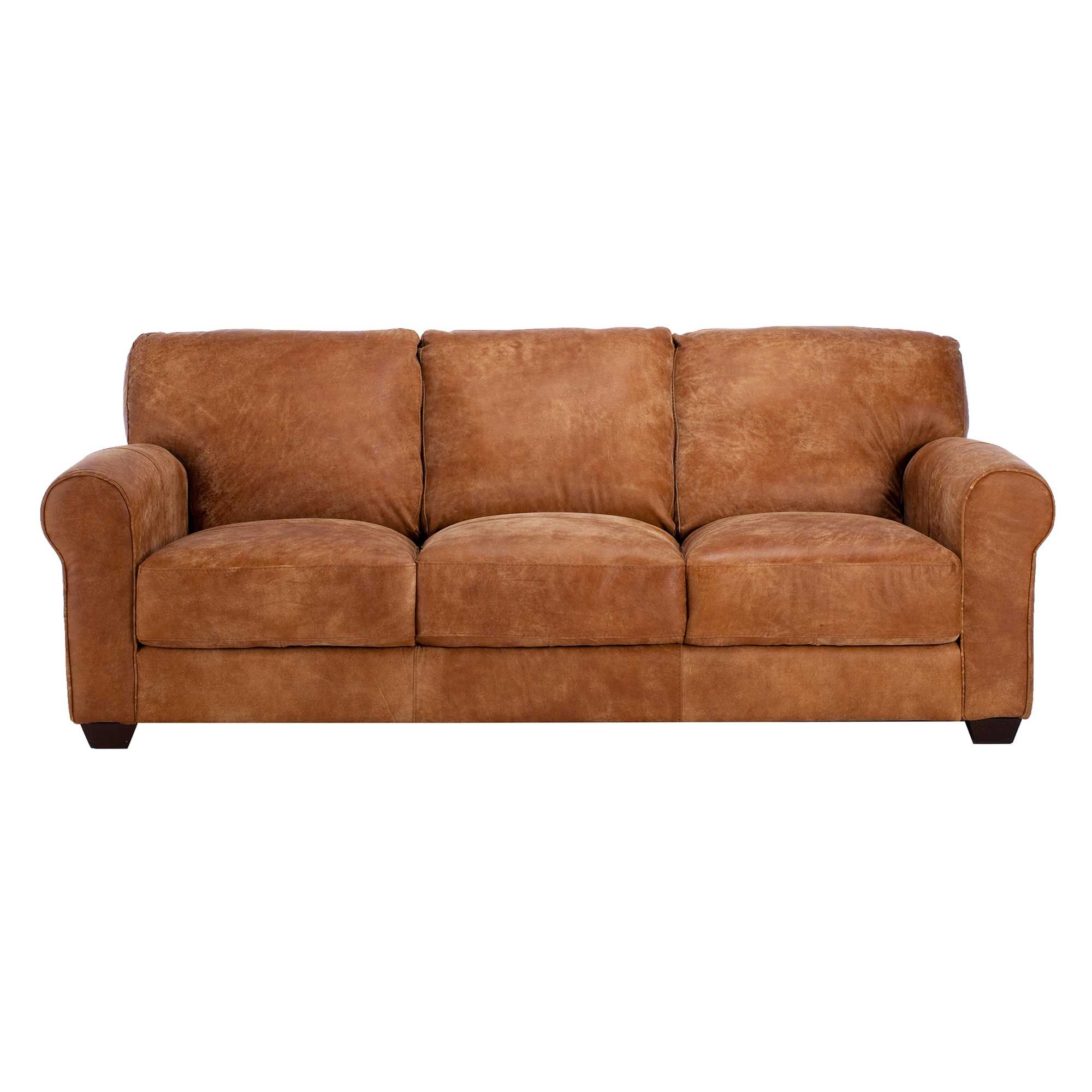 Houston Leather 3 Seater Sofa