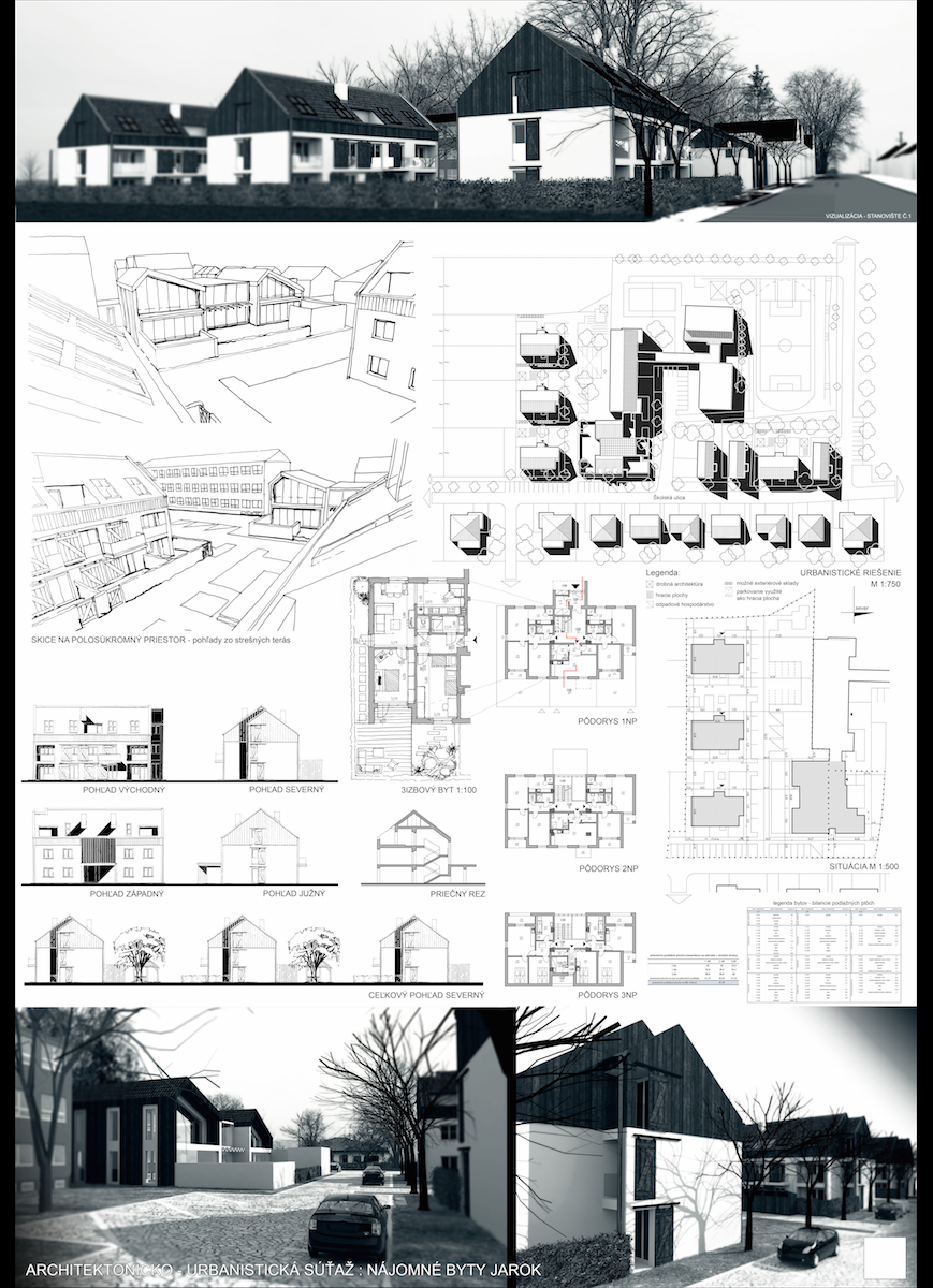 Low Cost Housing With Nursery School Poster1 Jarok