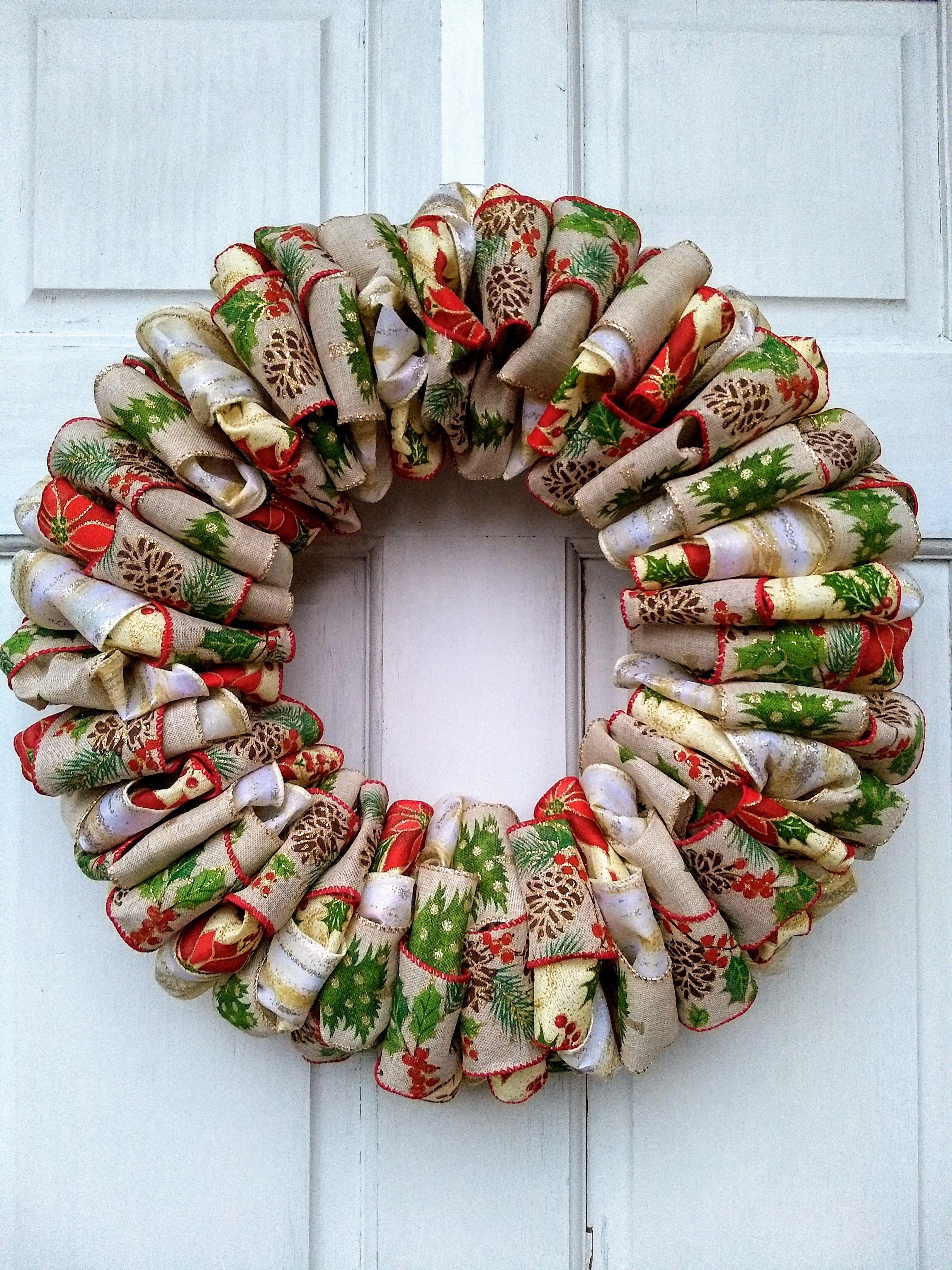 4 Ribbon Christmas Wreath Ribbon wreath christmas