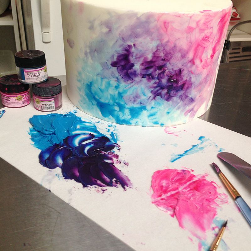 How To Paint A Watercolor Cake Watercolor Cake Painted Cakes