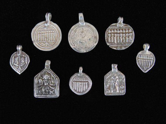 Wl4242 wholesale lot of 8 antique silver rajasthani amulets wl4242 wholesale lot of 8 antique silver rajasthani amulets pendants charms shiva aloadofball Choice Image