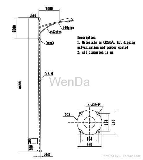 Street Lighting Pole Lighting Columns Lighting Post