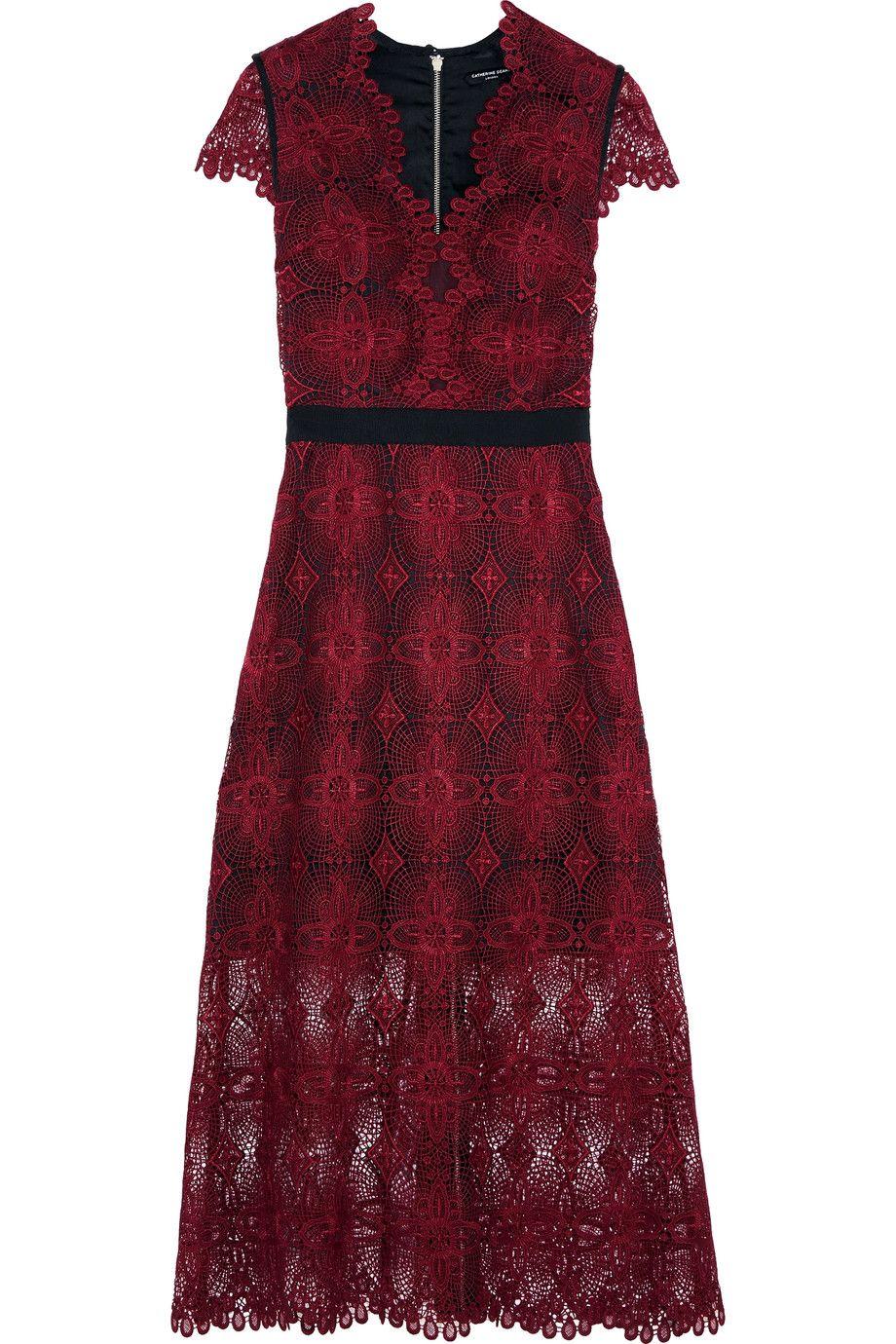 CATHERINE DEANE Garland guipure lace midi dress. #catherinedeane #cloth # dress   Catherine Deane   Pinterest   Catherine Deane, Lace midi dress and  Midi ...