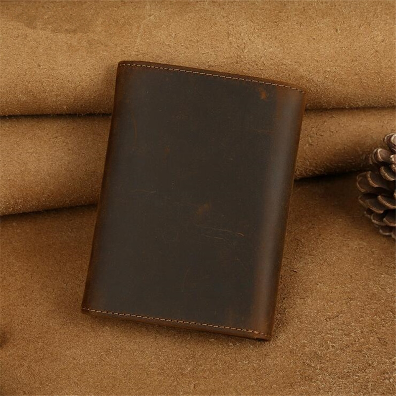 79.99$  Buy here - http://ali0g4.worldwells.pw/go.php?t=32647667809 - 2016 new retro crazy horse leather wallet handmade leather tri-fold wallet multifunction wallet successful man selection 79.99$