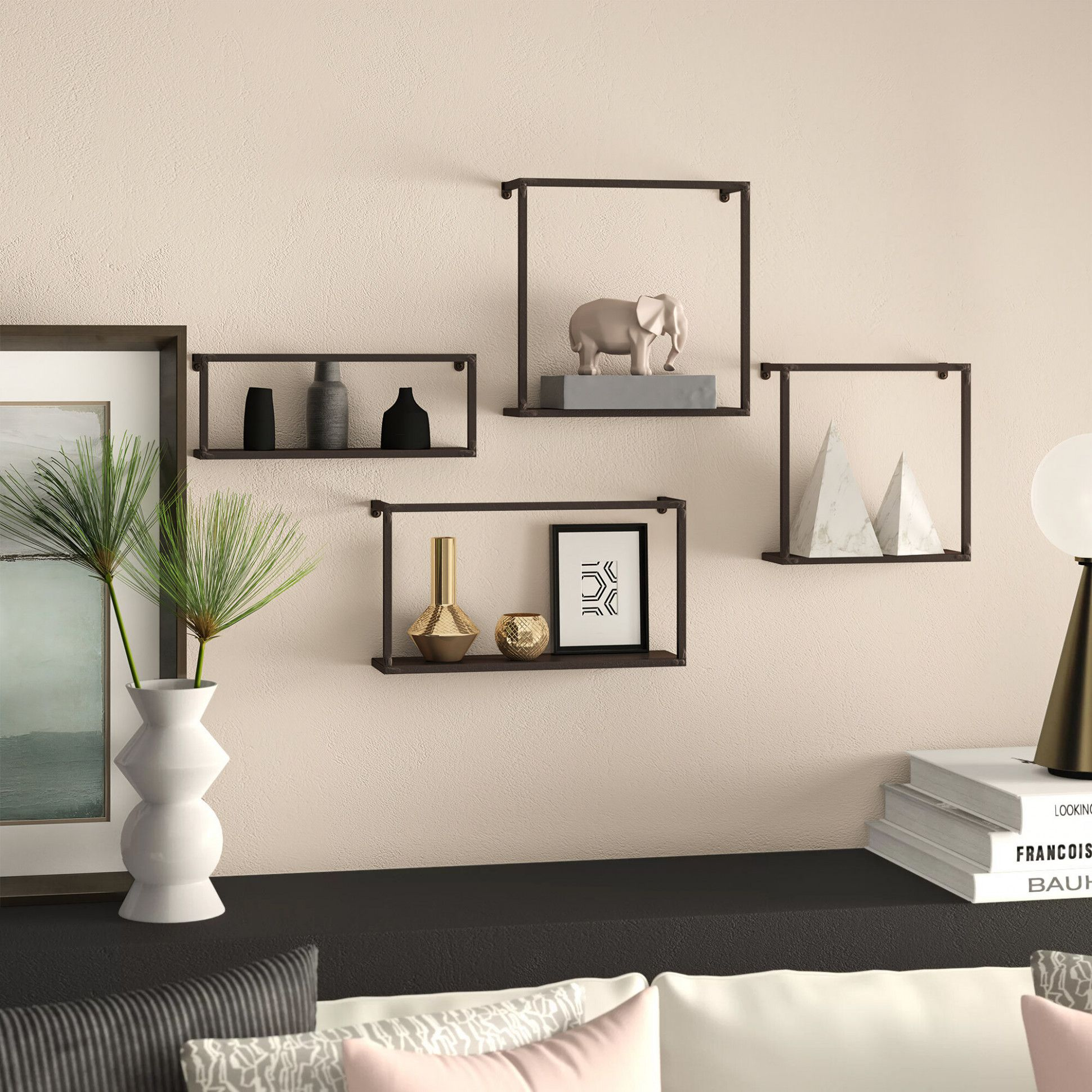 Incredible Wall Pieces For Living Wall Shelves Decor Frames On Wall