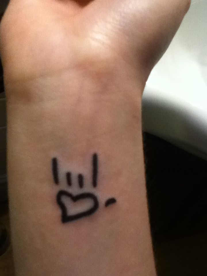 My New Tattoo 3 The I Love You Symbol Quotes Pinterest