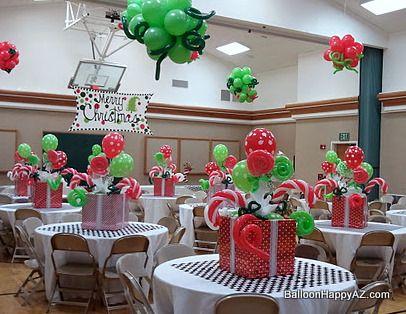christmas party balloon decor room candyland pinterest rh pinterest com