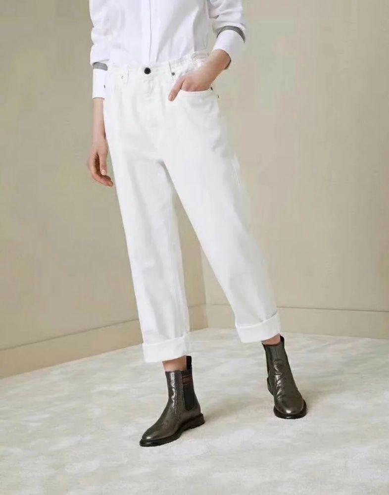 Women Brunello Boyfriend 18ss Cucinelli New Jeans In Made White lOPTwiuXkZ