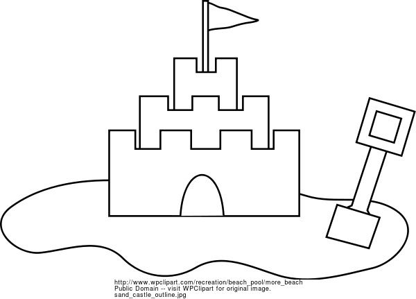 Sandcastle Outline Sand Castle Outline Public Domain Clip Art Image Wpclipart Com Beach Coloring Pages Cool Coloring Pages Castle Coloring Page