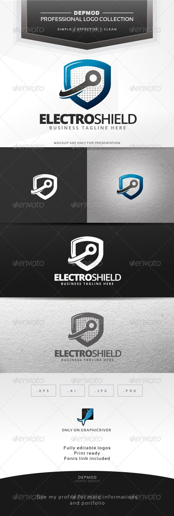 Electro Shield Logo ... antivirus, brand, branding, business, component, electro, electronic, endurance, force, identity, insurance, internet, it, online, online submission, print, protect, protection, safe, safety, shield, strength, strong, tough, vectors, web