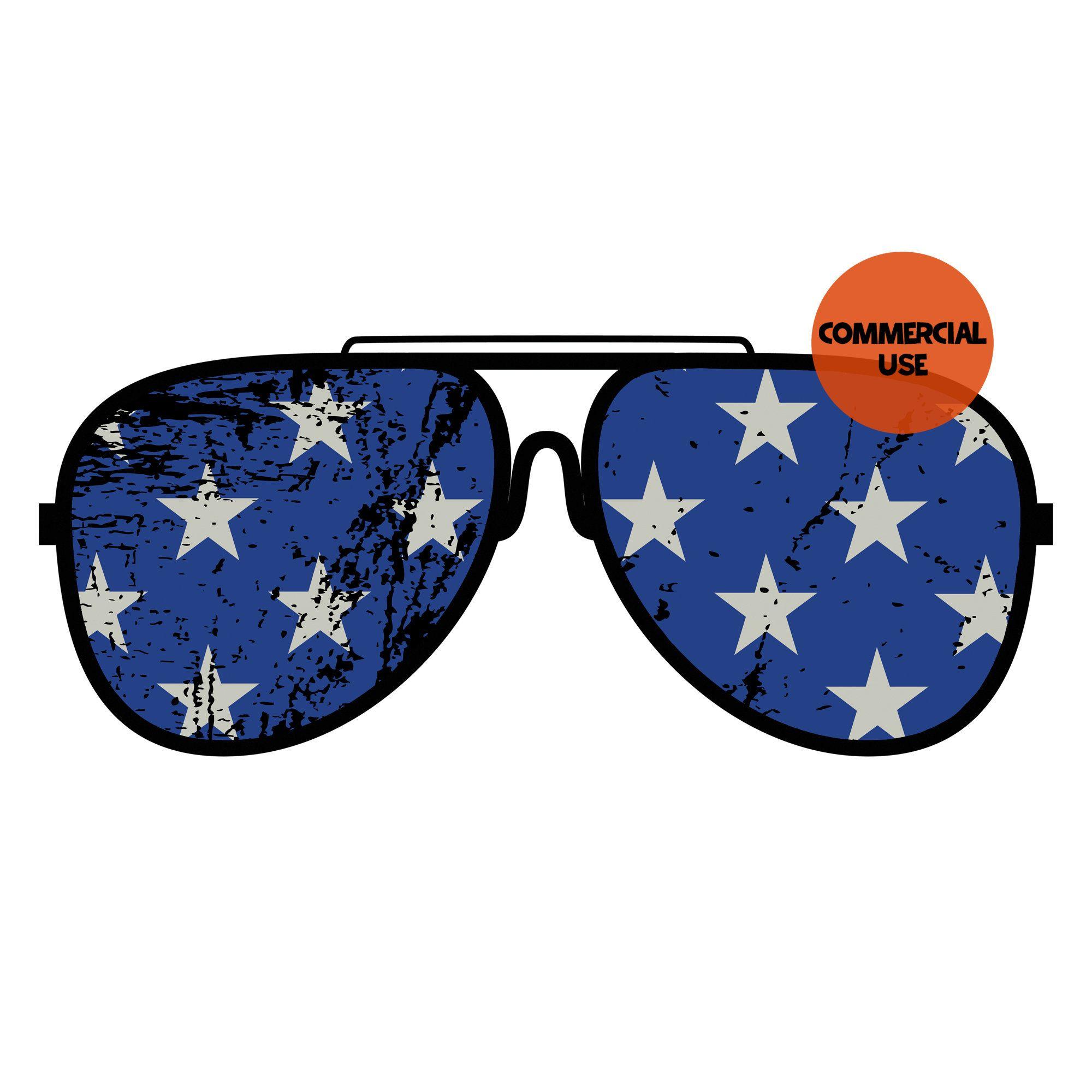 Patriotic Stars American Flag Sunglasses Png 4th Of July Clip Etsy In 2020 Patriotic Stars American Flag Sunglasses American Flag