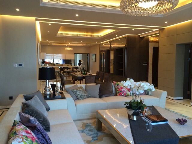 Chalk Architecture  completed interior design of a luxury apartment in Changchun, China. Lounge