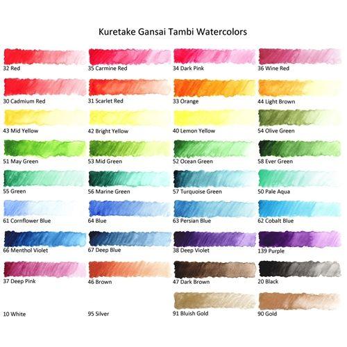 Zig Kuretake Gansai Tambi 36 Color Set Kuretake Gansai Tambi