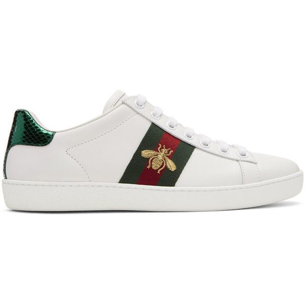 Ace Embellished Leather Sneakers - WhiteDcDwfZKI1N mxEf99