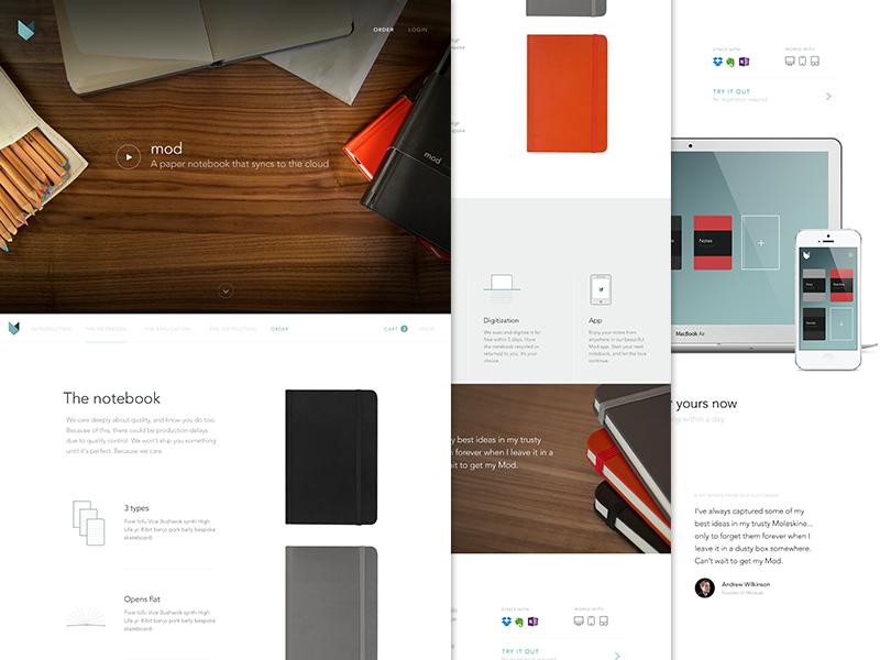 Mod Notebooks Web Design Gallery Web Design Notebook Design