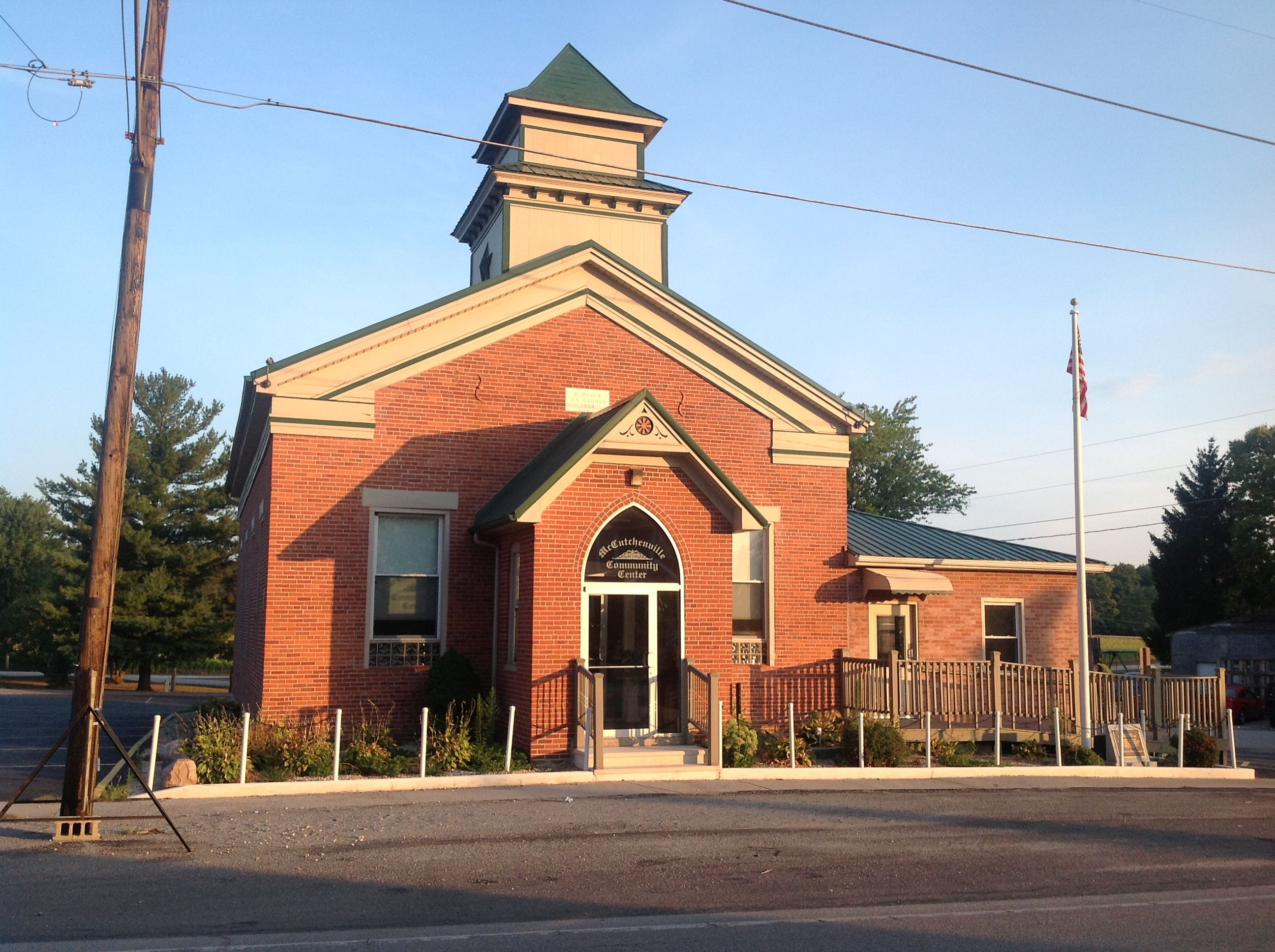 We have a community center you can rent out.  I remember standing in that building many years ago (when it was a Church) with my best friend James Mears thinking what the heck am I getting myself into.  Yes I got Married there.