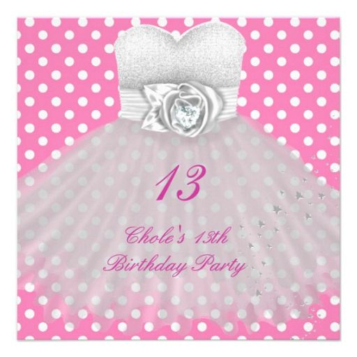 13 Year Old Birthday Party Invitations Birthday invitation
