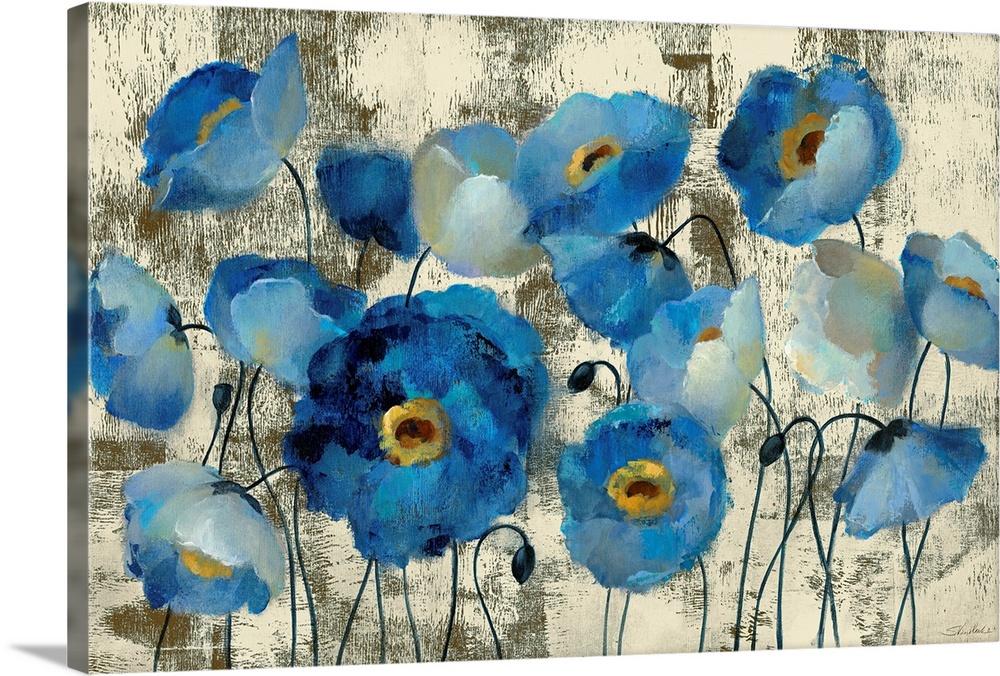 Aquamarine Floral In 2020 Floral Prints Art Floral Poster Floral Art