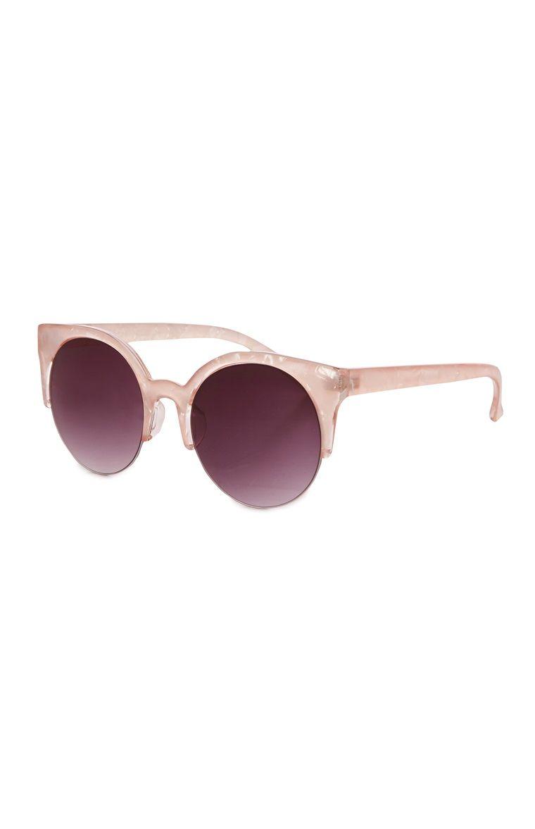 Runde Sonnenbrille in Perloptik