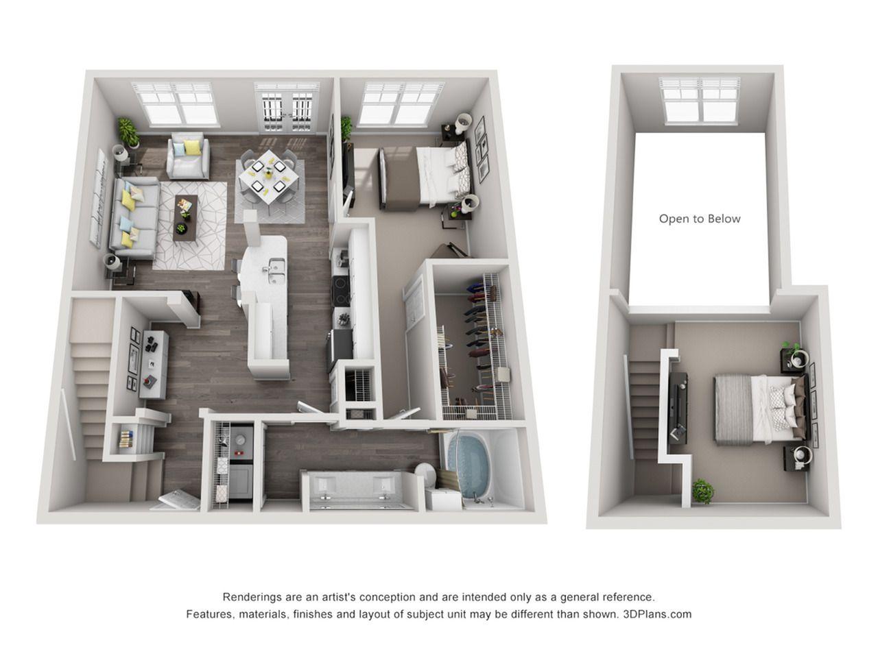 Perfect Open Floor Plan Apartments Atlanta Ga And View Open Floor Plan Apartments Condo Floor Plans Architectural Floor Plans