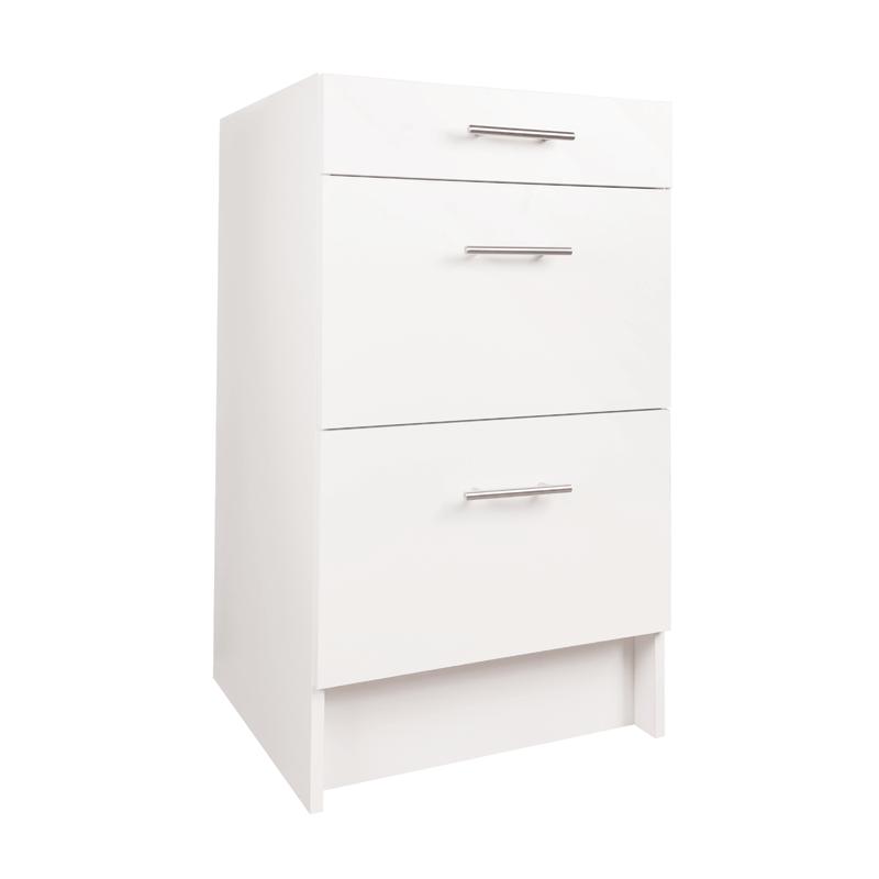 Practa 500mm 3 Drawer Base Cabinet Base Cabinets Kitchen Base Cabinets Kitchen Storage Space
