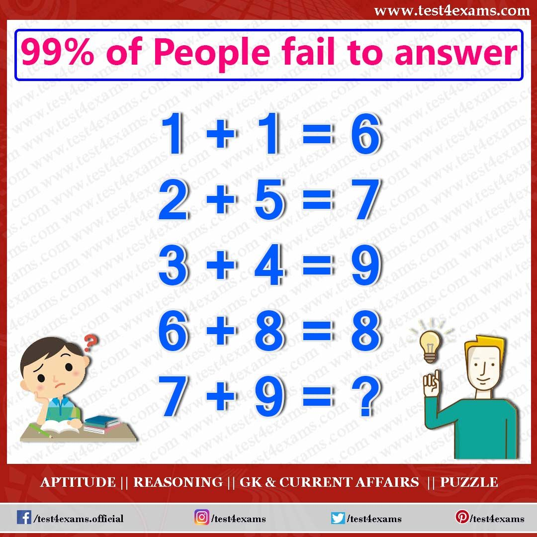 Puzzle 1085 in 2020 Brain teasers riddles, Aptitude and