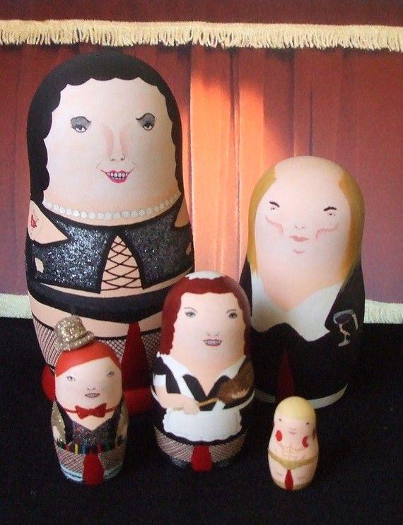 The Rocky Horror Picture Show Matryoshka Dolls by bobobabushka, $160.00